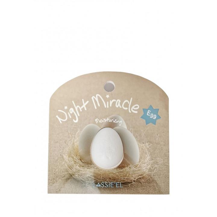 Ночная капсульная маска для лица с яйцом Lassie'el Night Miracle Egg Sleeping Mask 2 шт 8809285880350