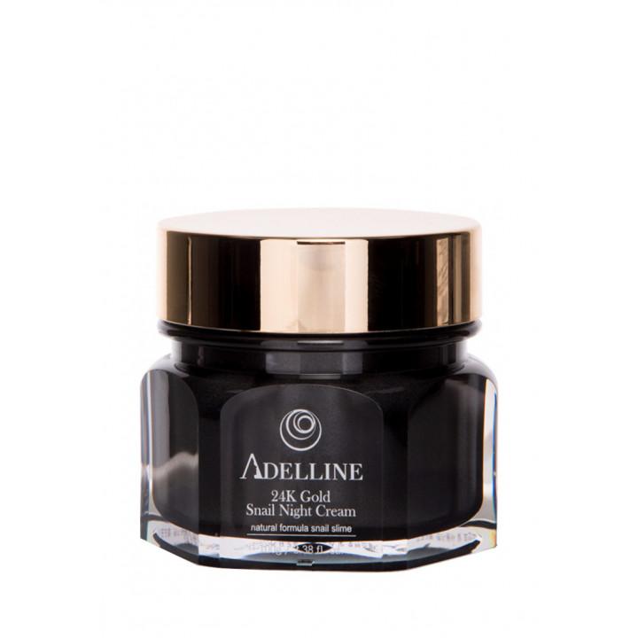 Ночной крем для лица с коллоидным золотом и муцином улитки Adelline 100 мл 8809793660017