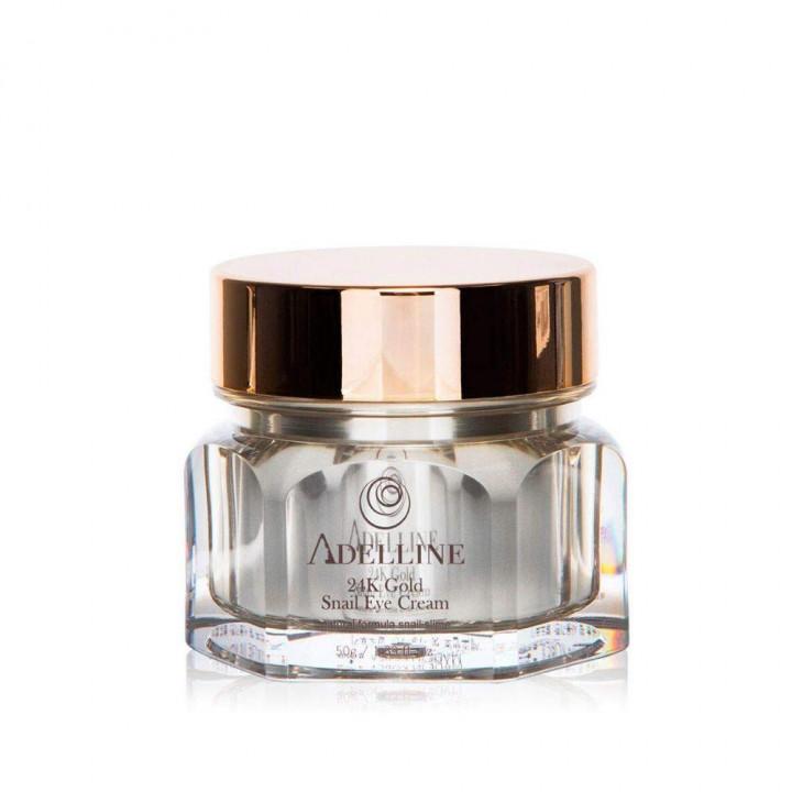 Крем для кожи вокруг глаз с муцином улитки и золотом - 24K Gold Snail Eye Cream (50 г) 8809793660031