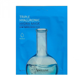 Гиалуроновая интенсивно-увлажняющая маска Adelline Triple Hyaluronic Hydra Mask 20 г 8809534252488