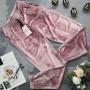Женские домашние велюровые штаны пудрового цвета 836
