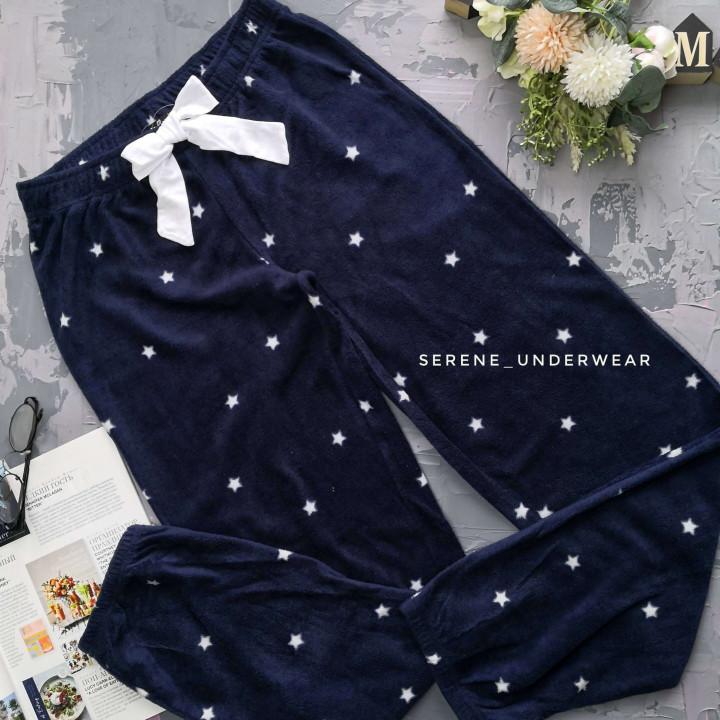 Жіночі флісові домашні штани у зірочки 833