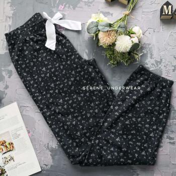 Жіночі флісові домашні штани у листочки 834