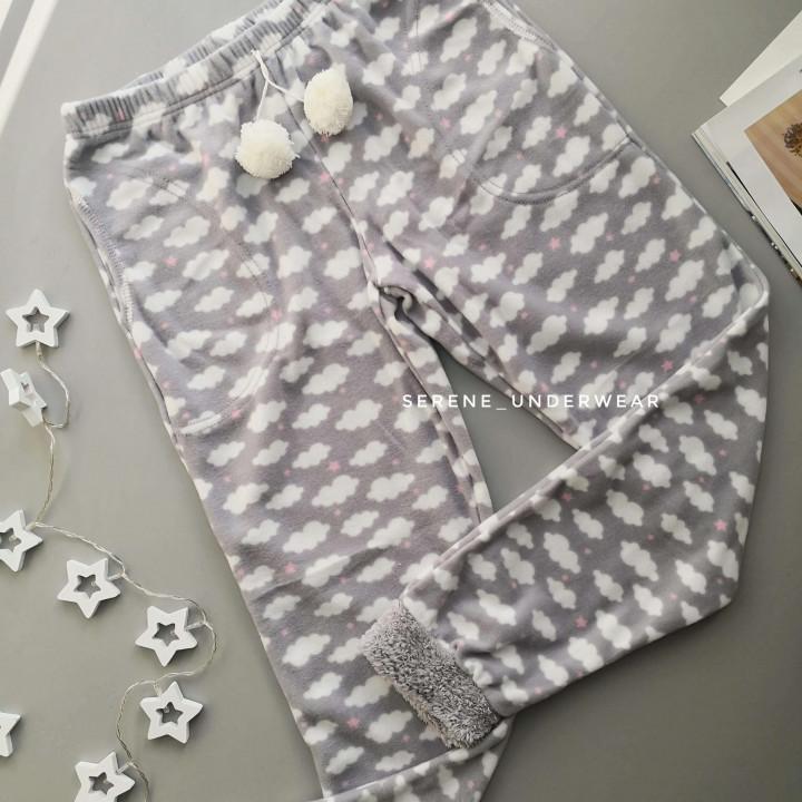 Женские теплые фливовые домашние штаны светло-серый 1178