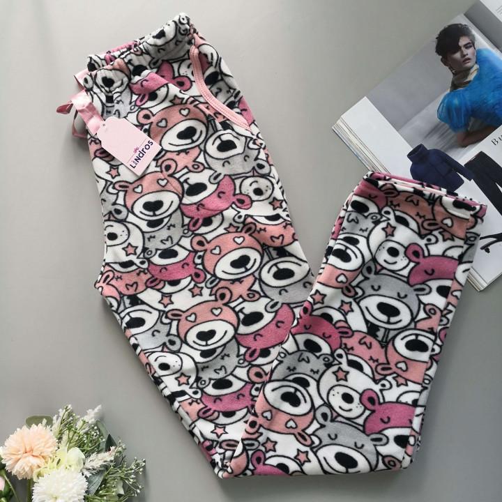 Теплые флисовые домашние штаны с карманами ML 1171
