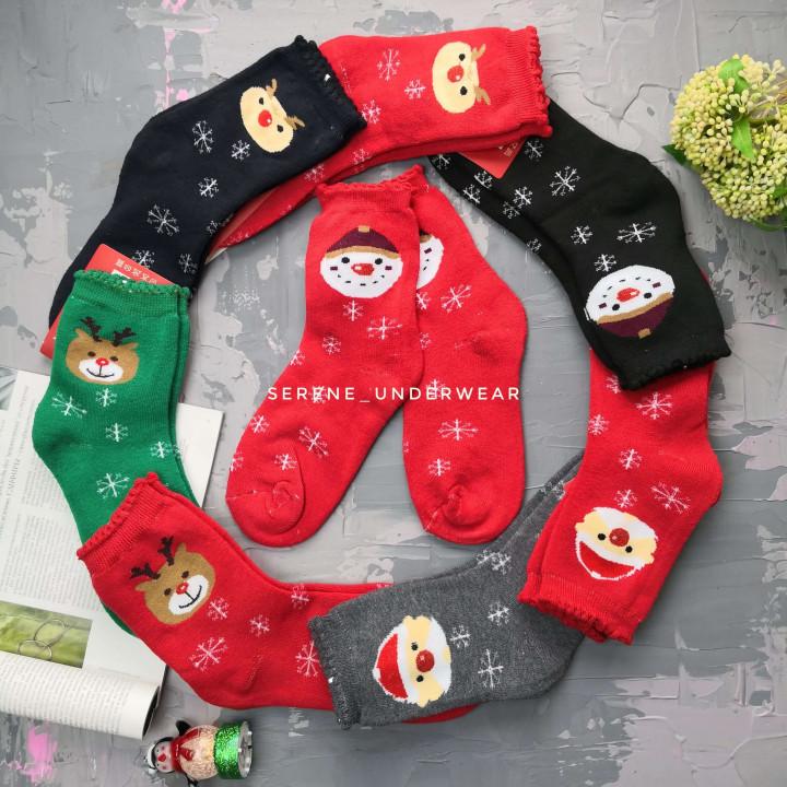 Жіночі термо шкарпетки Новий Рік 809