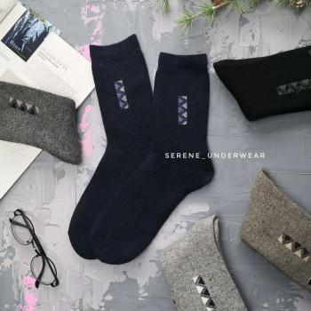 Чоловічі зимові термо шкарпетки з вовни 43-46 8381