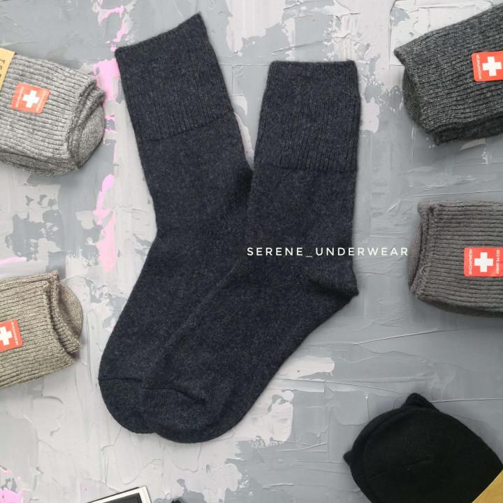 Мужские зимние шерстяные носки 860