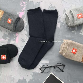 Чоловічі зимові термо шкарпетки з вовни 862