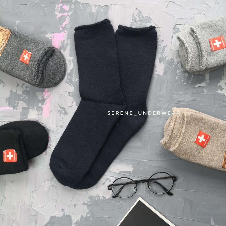 Мужские зимние термо шерстяные носки 862