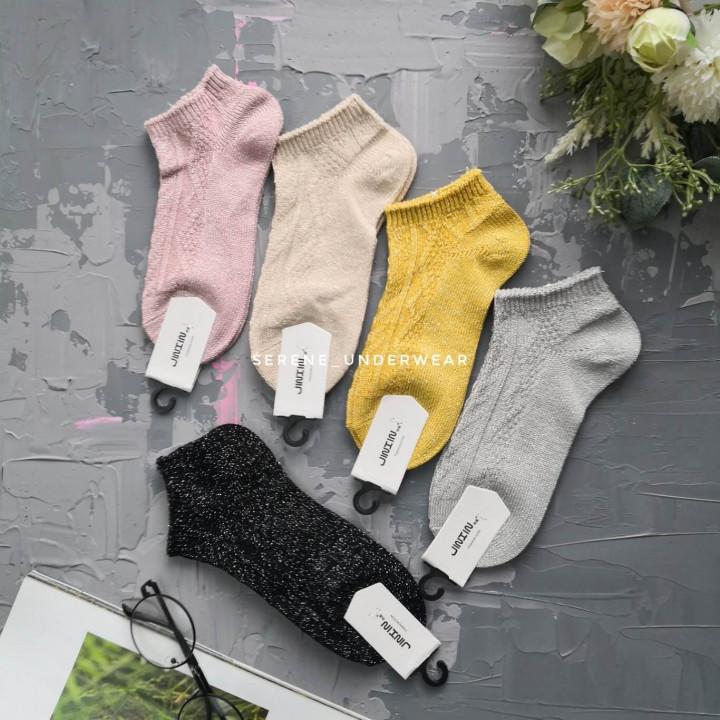 Жіночі короткі шкарпетки з люрексом 937