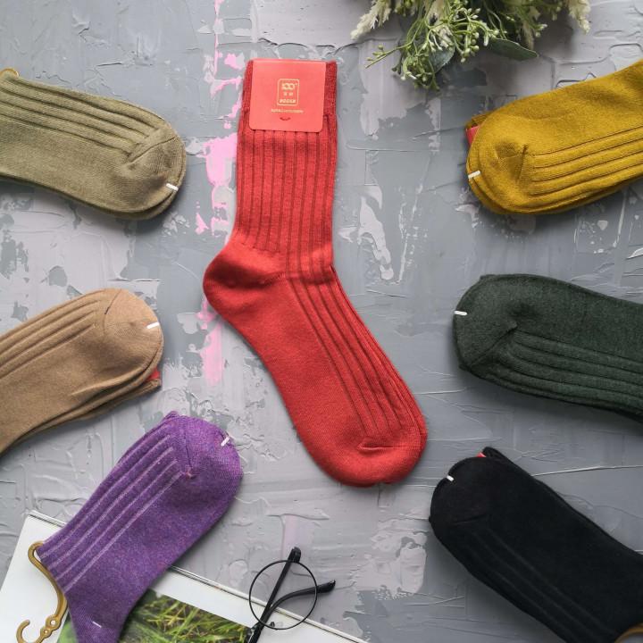 Жіночі однотонні демісезонні шкарпетки 941