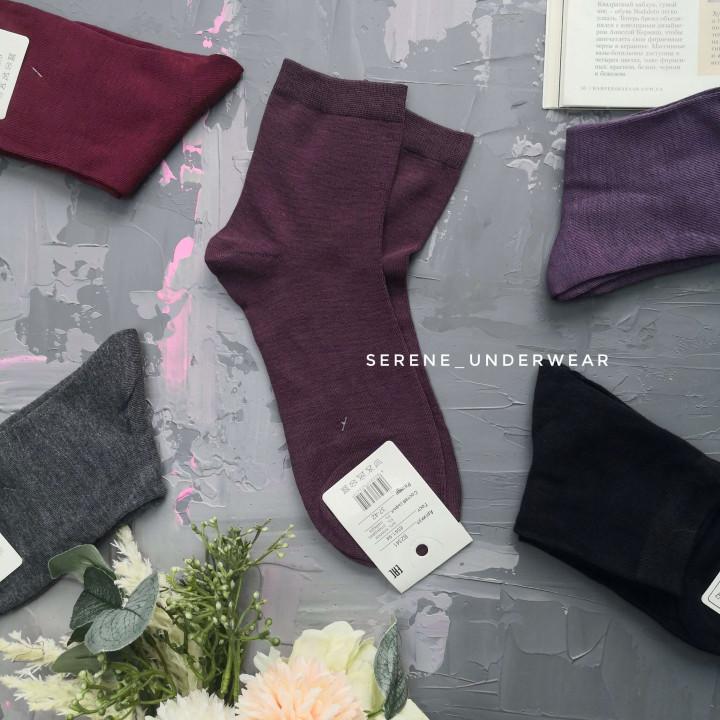 Женские классические носочки стандартной высоты 972