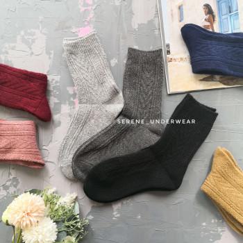 Жіночі теплі шкарпетки класичної висоти орнаментовані 1150