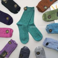 Жіночі теплі шкарпетки класичної висоти орнаментовані 1196